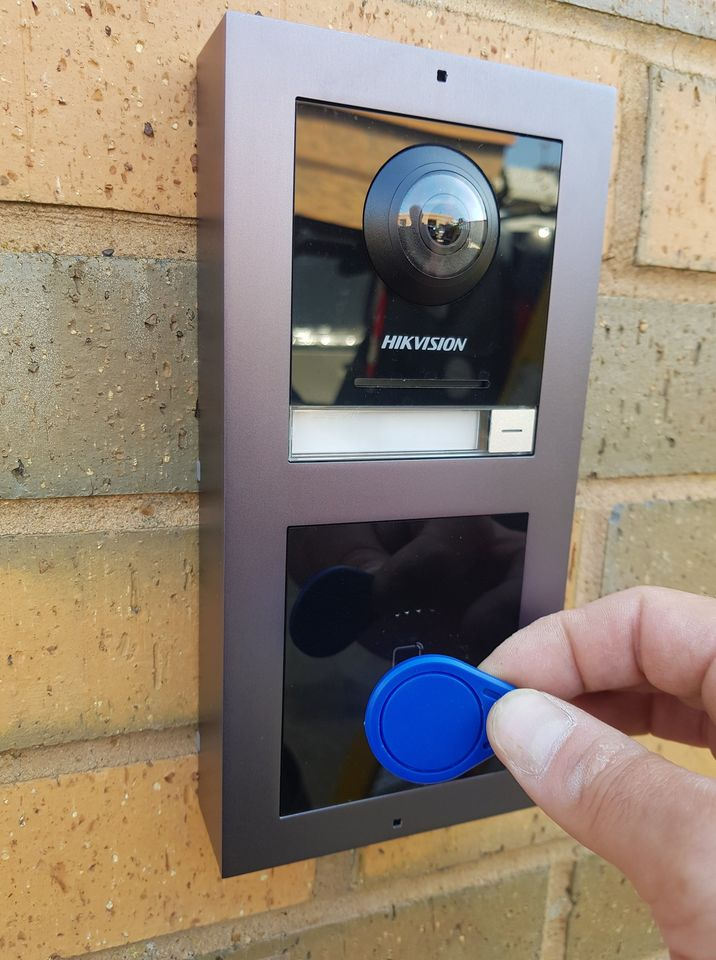 Secure entry control system with fob access