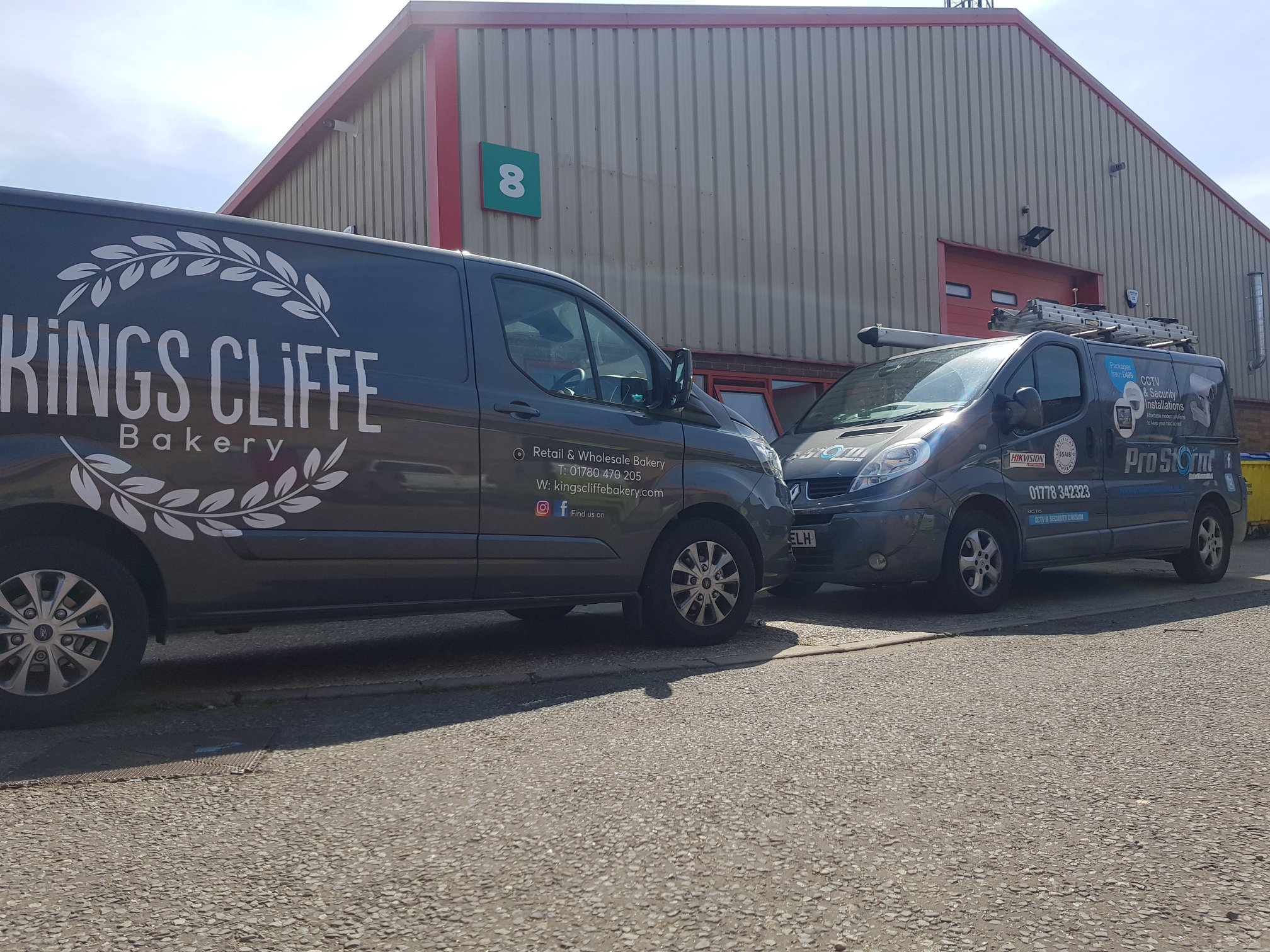 Successful commercial CCTV installation at Kings Cliffe Bakery