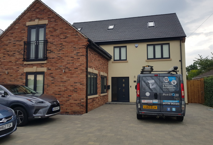 Domestic security and burglar alarm system installation