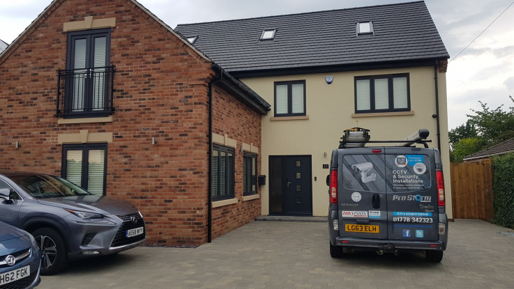 Domestic security and burglar alarm system installation